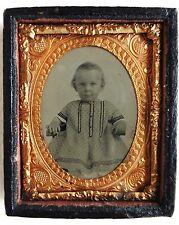 FERROTYPE PHOTO bébé avec boite encadrement PHOTOGRAPHIE ANCIENNE P91