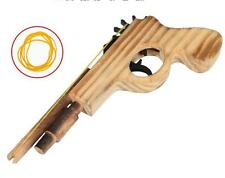 Kids Wooden Toy Pistol Wood Hand Gun Rifle Rubber Band Launcher Shooting Gifts