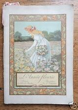 Calendrier 1900, poésies de Charles Fuster, illustrations de L. Trianon