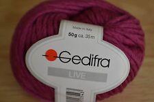Gedifra live 100% laine vierge 50g en magenta foncé couleur (interrompu)