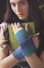 Crochet Pattern ~ LADIES FINGERLESS GLOVES ~ Instructions