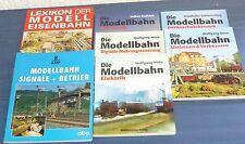 7x Buch: Die Modellbahn Bechtermünz Verlag, Alba Singale+Betrieb, Lexikon