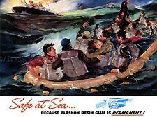 La pubblicità colla resina MARE SERIE imbarcazione FODERA nave LAVELLO Arte Poster Stampa lv1127