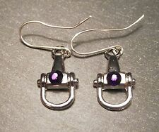 Equestrian Jewellery, Horse, Pony, Snaffle Bit and Swarovski Crystal Earrings