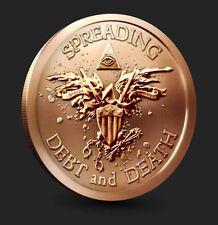 Combo Deal! Illuminati All Seeing Eye War Eagle Warbird + Obama Sins Truth Coin