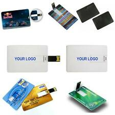 Lot 50 4GB Credit Card USB Memory $4.89 each / Business Card Custom Logo 2 Sides