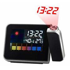 Sveglia Igrometro Digitale Laser Orologio Temperatura Umidita' Allarme Data 8190
