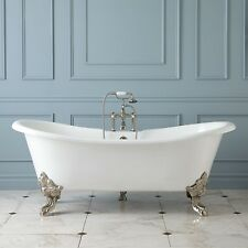 'GLAISDALE' DELUXE LARGE ROLL TOP CAST IRON FREESTANDING BATH 1800