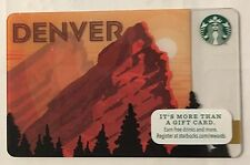2015 Starbucks Coffee DENVER (1) gift card  NEW No scratch/NO VALUE