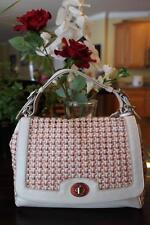 Coach Legacy Canning Leather Romy Top Handle Woven Bag 23411 (PU120