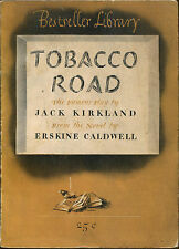 Tobacco Road-The Play by Jack Kirland-Erskine Caldwell-Bestseller Library Digest