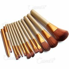 12Pcs Cosmetic Make Up Brushes Face Powder Blusher Foundation Kabuki Contour Set