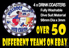 4 x BULLDOGS FOOTSCRAY WESTERN OR OTHER FOOTBALL AUSSIE RULES DRINK COASTERS