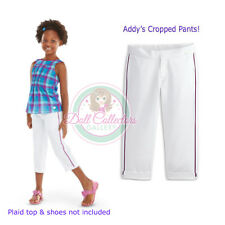 American Girl CL ADDY CLASSIC CROPS SIZE 6 XS for Girls White Pants Capris NEW