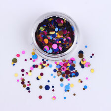 Nail Art Ultrathin Sequins Round Christmas Colorful Manicure Decoration Tips #04