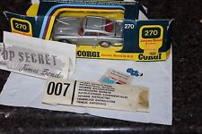 Corgi Toys  #270 1973  SILVER James Bond  UNTOUCHED ORIGINAL & its box from new