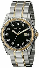 Bulova Men's 98D122 Diamond Analog Display Japanese Quartz Two Tone Watch