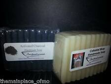 Colloidal Silver and Activated Charcoal Handmade Lye Soap 1 Bar Each Artisan