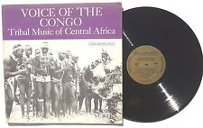 VOICE ON THE CONGO Tribal Music Of Central Africa LP WASHINGTON RECORDS WLP703