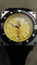 ESQ by Movado Blackfin E5447 Men's Watch Yellow Face Gently Used!
