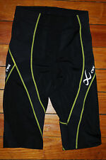 NEW Women's CW-X Pro Tri Compression Shorts 141805 Black/Yellow (X-Small)
