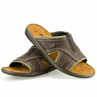 Mens Gladiator Sandals Summer Beach Cushioned Walking Slip On Mules Shoes Size