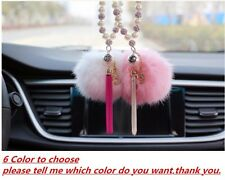 Car Rear View Mirror Pendant Car Interior Pearl Jewelry Decor Hanging Ornament