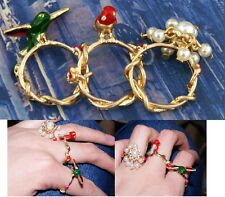 R210 Betsey Johnson Pigeon Bird Swallow Swallows 3 Pcs Rings Set Ring US