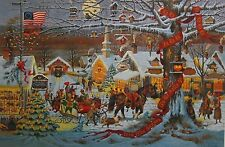 Charles Wysocki Small Town Christmas  Signed & Numbered  W/Certifice # 4577/7500