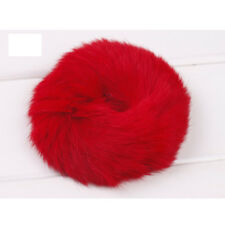 Free shipping 2015 New Hot Faux Rabbit Ear Fur Hair Bands Elastic  For Girl