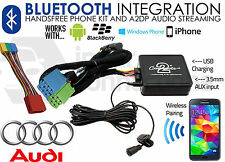 Audi A8 1999-2004 Bluetooth music streaming handsfree car kit AUX USB MP3 iPhone