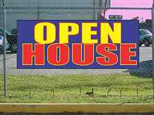 Red Yellow Blue OPEN HOUSE Banner Sign NEW Larger Size