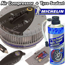 Michelin 12260 12v Car Tyre Air Compressor Inflator & Detachable Gauge + Sealant