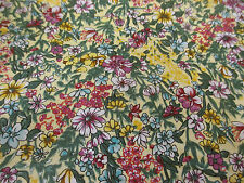 "Multicoloured ""Beach Time"" Summer Floral Printed 100% Cotton Poplin Fabric"