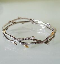 Stephen Dweck Diamonds Fortuna Sterling Silver Branch Bangle Bracelet