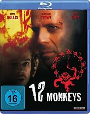 12 MONKEYS (Bruce Willis, Brad Pitt) Blu-ray Disc NEU+OVP