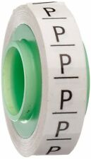 "3M Scotch Code Wire Marker Tape Refill Roll SDR-P, Printed with ""P"" (Pack of 10)"