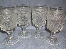 Vintage 4 Pc set Wexford * 4 oz  goblet stemmed glasses
