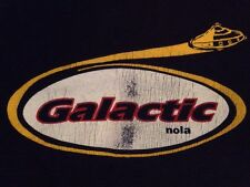 Galactic Nola Large Blue Long Sleeve Beefy T New Orleans Vintage & Rare