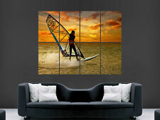 SUNSET BOARD SAIL SEA SURF  GIANT WALL POSTER ART PICTURE PRINT LARGE HUGE