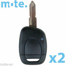 2 x Renault Remote Car Key Blank 1 Button Replacement Shell/Case/Enclosure