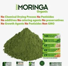 Super Organic Moringa Oleifera Raw Leaf Powder 100gms - NON GMO - UK Seller