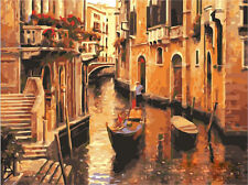 16X20'' Acrylic DIY Venice Scenery Paint By Number kit Oil Painting On Canvas