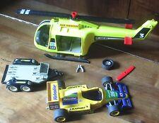 playmobil lot F1 hélicoptère remorque accessoires