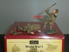 BRITAINS 17914 BRITISH ROYAL FUSILIERS WOUNDED + DEAD METAL TOY SOLDIER SET