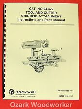 ROCKWELL Tool Cutter Grinder Attachment 24-822 Manual 0620