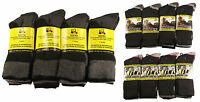 12 Pairs Men's Ultimate Work Boot Socks, Cushion Sole, Reinforced Toe, Size 6-11