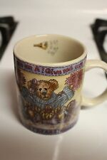 BOYDS BEARS COLLECTION CHEERLEADER MUG 1999 NOTHING GREAT WAS EVER ACHIEVED...