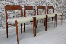 4 x 60er TEAK NIELS O.MØLLER STUHL ESSZIMMERSTUHL DANISH 60s DINING CHAIRS