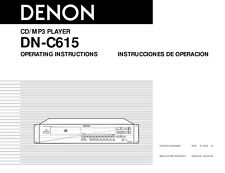 Denon DN-C615 CD Player Owners Manual